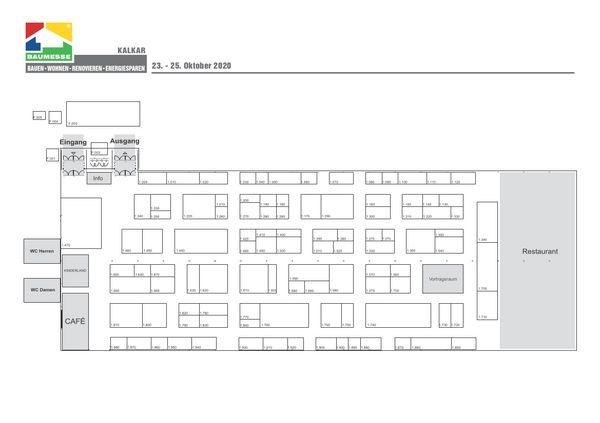 Hallenplan Messe Kalkar bauen