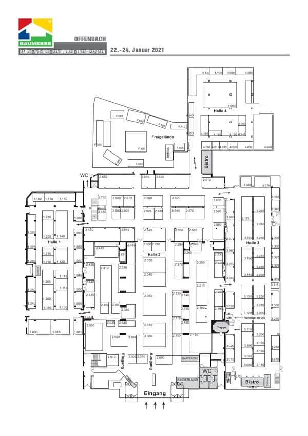 Hallenplan Baumesse Of