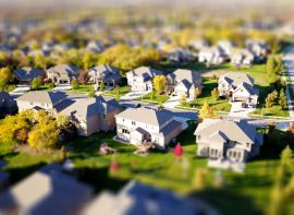 high angle shot of suburban neighborhood 1546168  fertighausbewertung